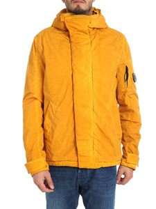 CP Company - Melange yellow down jacket with logo
