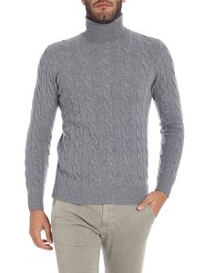 S.Moritz - Grey turtleneck with cable knit