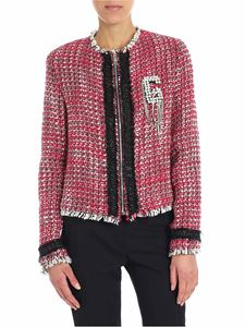 Gaelle Paris - Red and white blouclé jacket