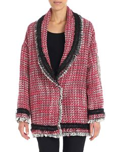 Gaelle Paris - White and red bouclé jacket