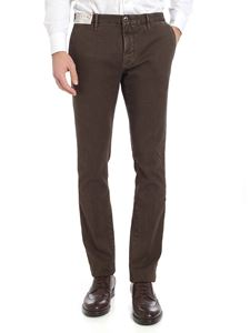 Incotex - Brown woven cotton trousers