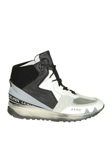 """Leather Crown - White and black """"Aero"""" sneakers"""