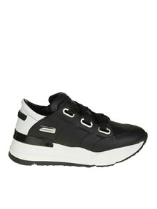 "Ruco Line - ""R-evolve"" black leather sneakers"