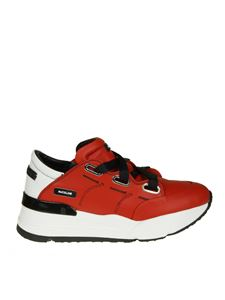"RUCO LINE - ""R-evolve"" red leather sneakers"