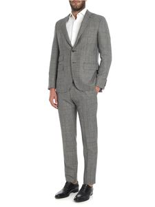 Caruso - Black checked pattern wool suit