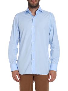 "Finamore 1925 - Light blue ""Napoli"" shirt"