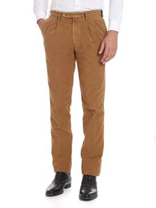 Rotasport - Brown trousers with pleated front panels