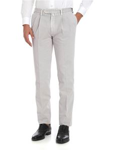 Rotasport - Melange grey trousers with pleated front panels