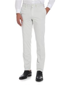 Rotasport - Ice color trousers with pressed pleats