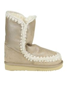"""Mou - """"Eskimo Boot 24"""" beige ankle boots"""