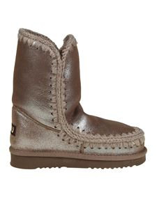 """Mou - """"Eskimo Boot 24"""" brown ankle boots"""