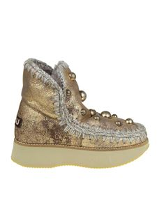 """Mou - """"Running Eskimo 18"""" golden ankle boots"""