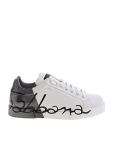 """Dolce & Gabbana - """"Port Light"""" white and grey sneakers"""
