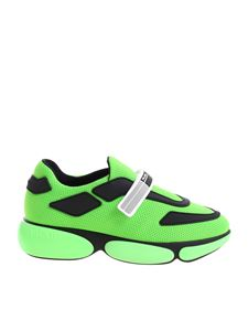 Prada - Fluorescent green sneakers with black details