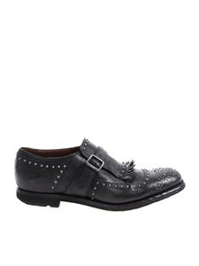 Church's - Vintage effect black shoes with silver studs