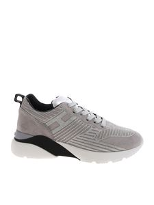 "Hogan - Grey and silver ""Active One H385"" sneakers"