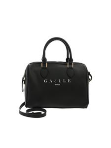 Gaelle Paris - Black bowling bag with white logo