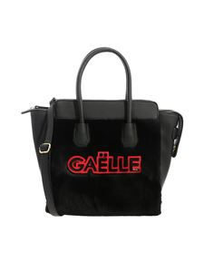 Gaelle Paris - Black handbag with red and black logo
