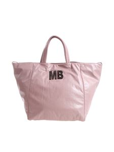 Mia Bag - Pink patent faux-leather shoulder bag