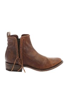Mexicana - Brown vintage effect Chelsea boots