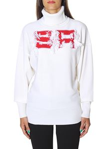 Sonia Rykiel - White turtleneck with red embroidery