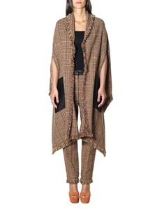 Sonia Rykiel - Cape check in shades of brown