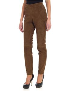 Fabiana Filippi - Brown trousers with suede effect