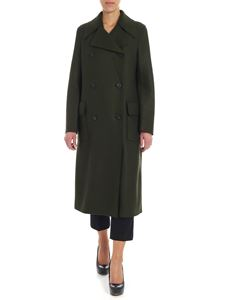 Harris Wharf London - Cappotto verde militare in lana vergine