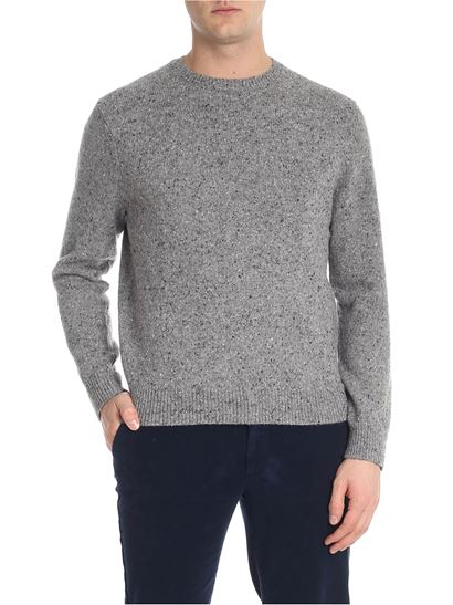 Speckle Sweater Winter Brooks Grey 1819 Fall Neck Brothers Crew ZvqzU