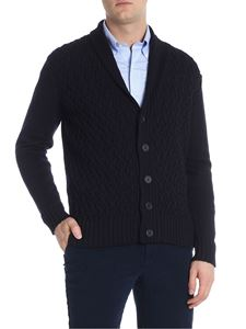 Paolo Pecora - Blue cable knitted cardigan