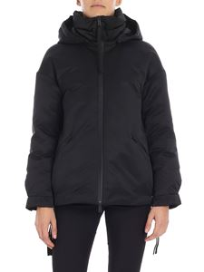 ADD - Black quilted jacket with heat-sealed zip