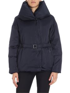 ADD - Blue down jacket with belt on the waist