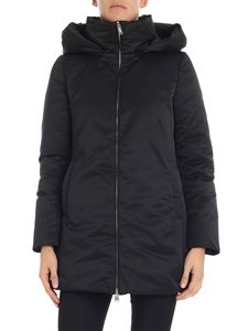 ADD - Black down jacket with removable hood