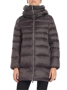 ADD - Charcoal down jacket with high collar
