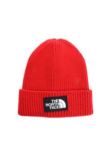 The North Face - Red beanie with logo