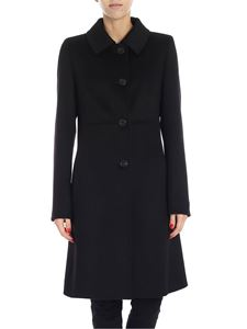 "Max Mara Weekend - ""Onde"" black wool cloth coat"
