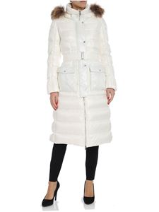ADD - White down jacket with fur insert