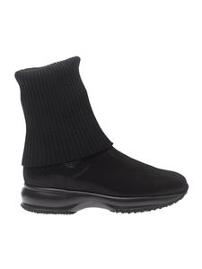 "Hogan - ""Interactive"" black ankle boots"