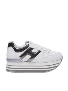 "Hogan - White and black ""H283"" sneakers"