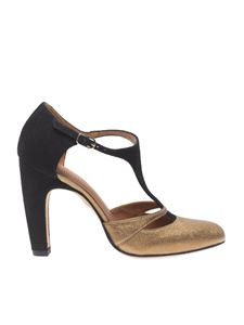 "Chie Mihara - Golden and black ""Daylily"" sandals"