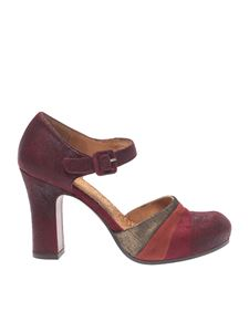"""Chie Mihara - """"Deluxe"""" burgundy sandals"""