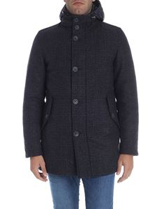 Herno - Blue melange Prince of Wales coat