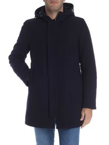 Herno - Blue padded wool coat