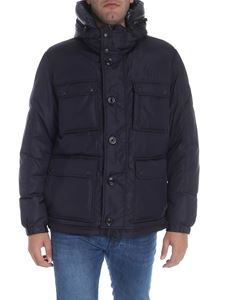 "Moncler - Dark blue ""Jovet"" down jacket"