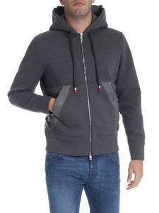 Moncler - Gray sweatshirt with padded inserts
