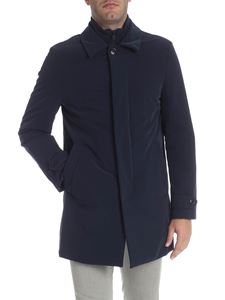 Fay - Blue technical fabric coat