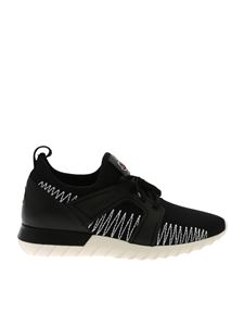 "Moncler - Black and white ""Emilien"" sneakers"