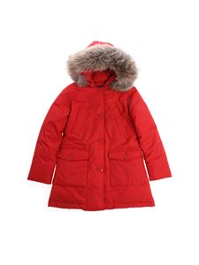 Woolrich - Red hooded down jacket