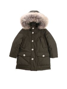 "Woolrich - Green ""Parka Detachable"" down jacket"
