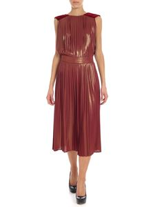 Elisabetta Franchi - Wine red pleated dress